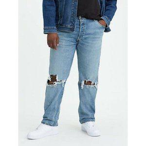 Levi's 501 Original Fit Stretch Distressed Jeans